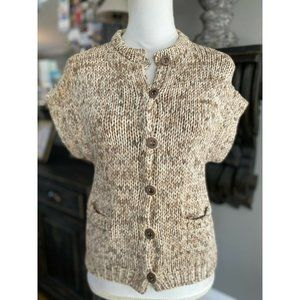 BRUNELLO CUCINELLI Short Sleeve Cardigan Sweater S